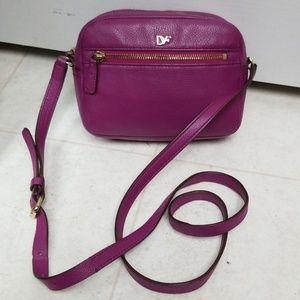 DIANE VON FURSTENBERG purple leather crossbody